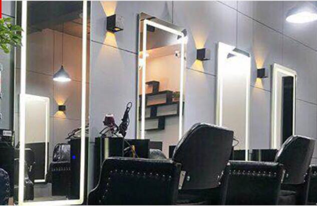 Guling Barbershop Hair Salon With Full Body Mirror Hair Mirror Wall Mounted LED Rectangular Mirror