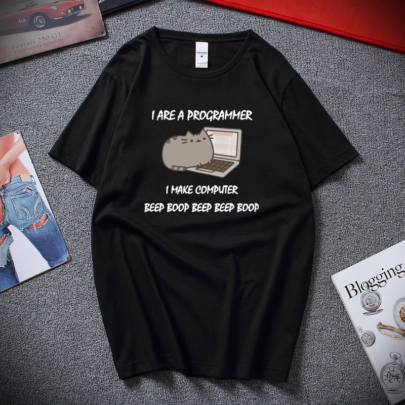 I Are A Programmer I Make Computer Funny T Shirts Summer Harajuku Novelty Unisex Tee Top Cotton Short Sleeve T-shirt Euro Size