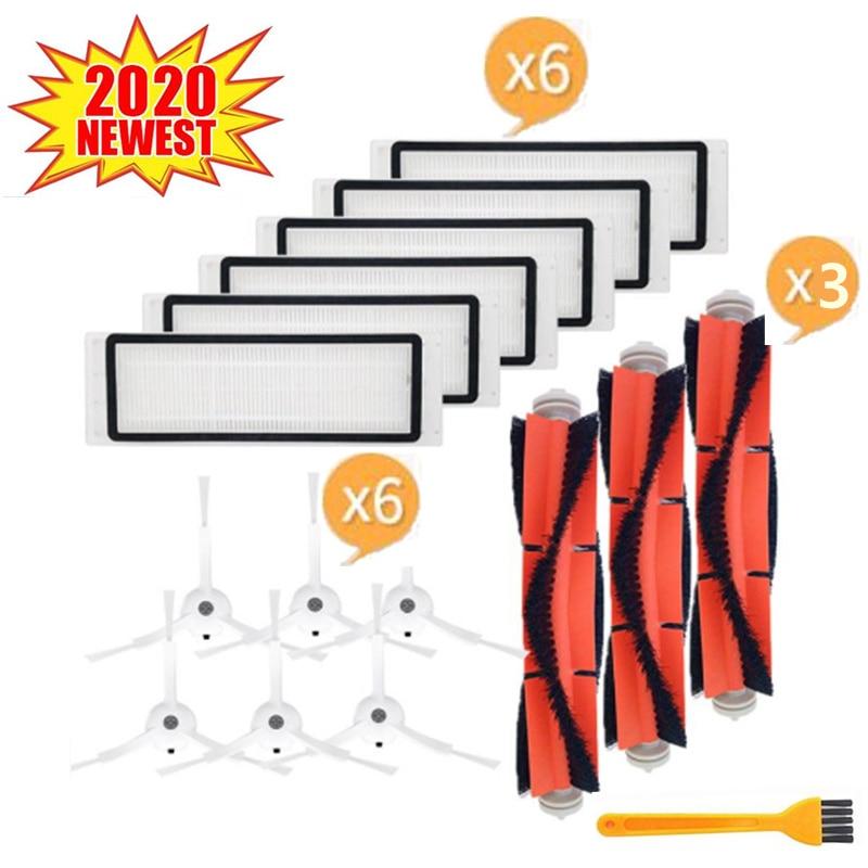 4 HEPA Filter + 6 Side Brush + 2 Main Brush For Xiaomi MI Robot Vacuum 2 Roborock S50 Vacuum Cleaner Parts Accessories