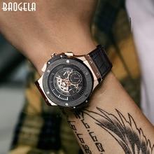 BAOGELA hommes montres horloge de luxe marque Quartz Sport montre  Rose chronographe mode montre-bracelet pour hommes1910