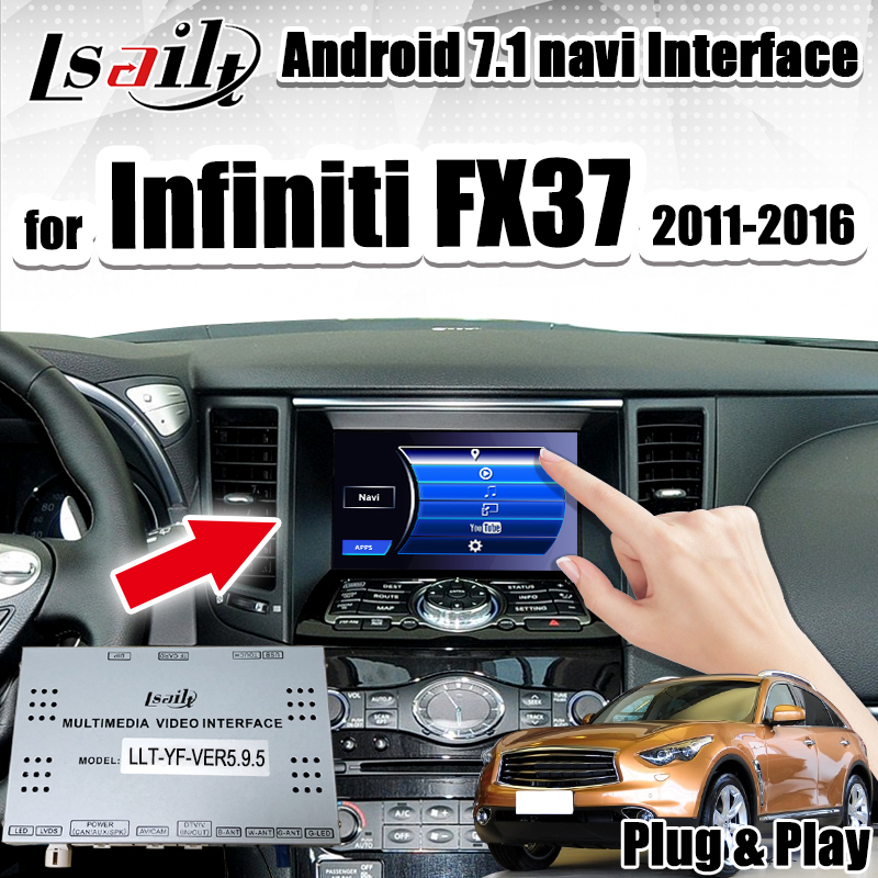 Lsailt Android 7.1 Multimedia Video Interface Car Navigation box for Infiniti FX37 2013 2017 support wireless carplay|Vehicle GPS| |  - title=