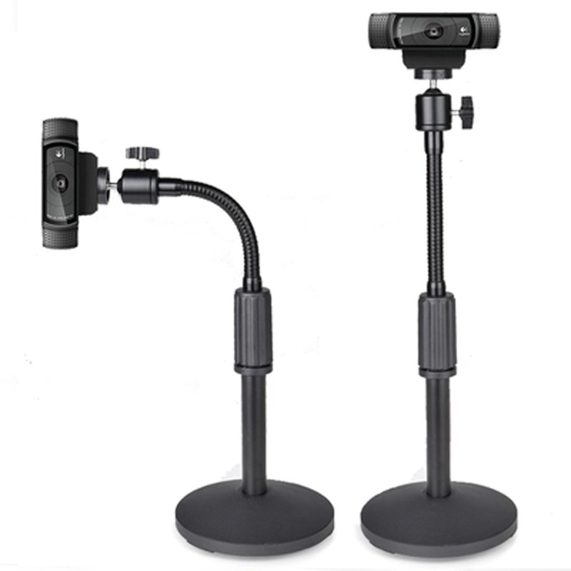 PMA-T4 Height Adjust Steel Small Mini Projector Desktop Stand C920 C930 Mount Table Bracket Holder With Soft Pipe All Direction