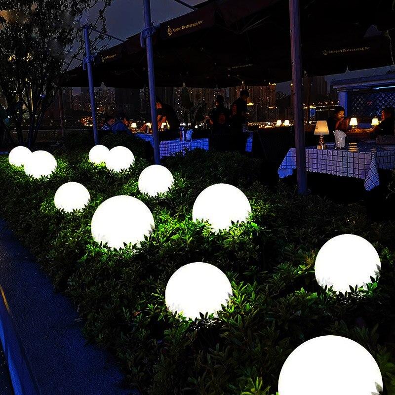 للماء 16 اللون مصابيح حديقة الكرة توهج ليلة ضوء في الهواء الطلق الإضاءة مصابيح الحديقة المسار المشهد السباحة بركة بركة ضوء