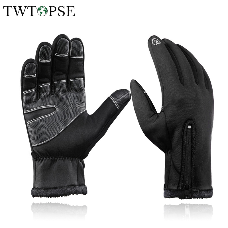 Winter Touch Screen Waterproof Cycling MTB BMX Bicycle Ski Full Finger Gloves