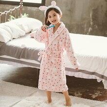 Мода г. Банные халаты для детей, зимний детский банный халат, фланелевый банный халат с рисунком для девочек, пижама с мягким поясом szlafrok peignoir