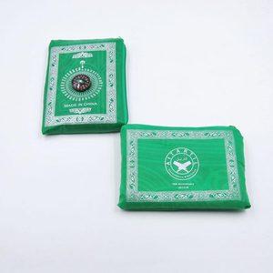 Image 3 - Sale 100*60 Cm Hồi Giáo Cầu Nguyện Thảm Polyester Di Động Đầm Thảm In Có La Bàn Trong Túi Du Lịch Nhà Mới phong Cách Thảm Chăn
