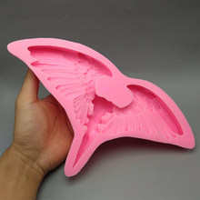 3D カラスの頭蓋骨のシリコンモールドフォンダンケーキ型樹脂石膏チョコレートキャンドル型送料無料