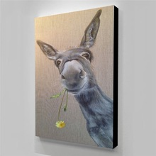 Modular Picture Posters Paintings Donkey Wall-Art Animal Canvas Funny Living-Room Home-Decor