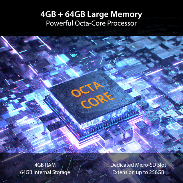 UMIDIGI A7 Android 10 6.49 Large Full Screen 4GB 64GB Quad Camera Octa-Core Processor 4G Global Version Smartphone