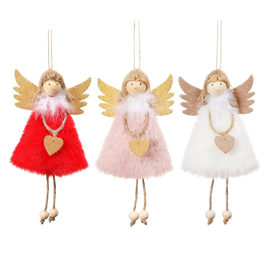 Home Decoration Elf Angel Pendant Pink Cristmas Birthday Party Decorations Gift Mery 2020 New Year White Merry Christmas