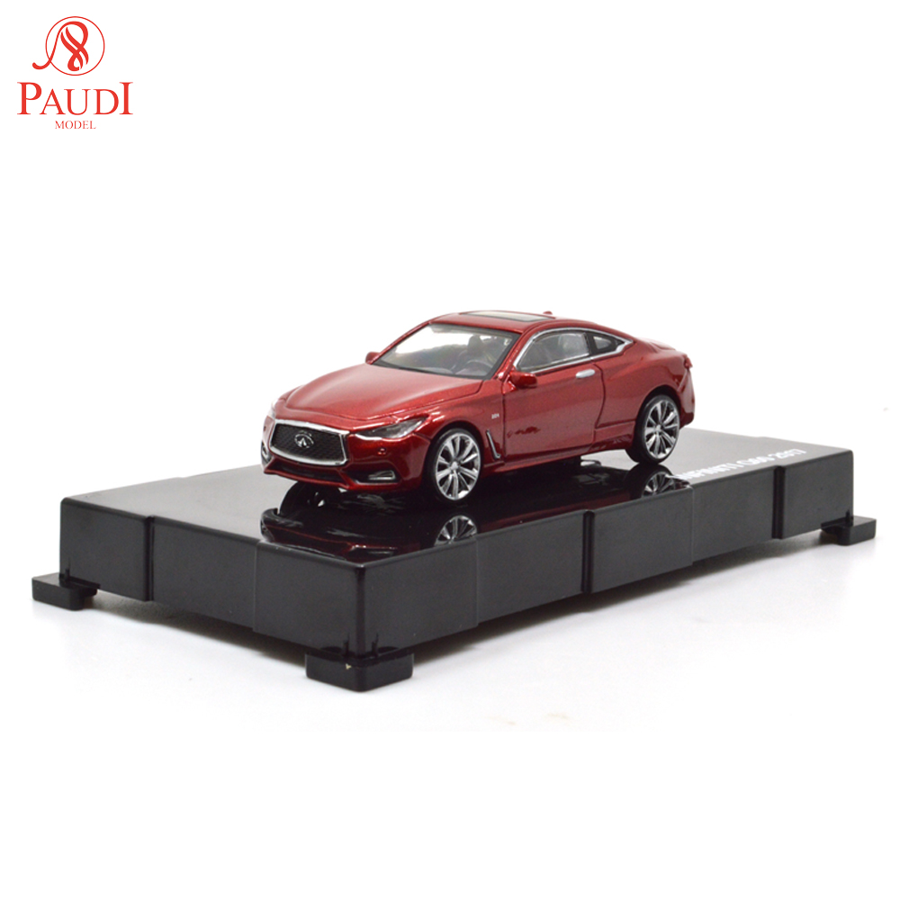 Paudi Model 1/64 1:64 Scale Infiniti Q60 Red 2017 Diecast Car Model Toys Boys Girls Gifts Collections