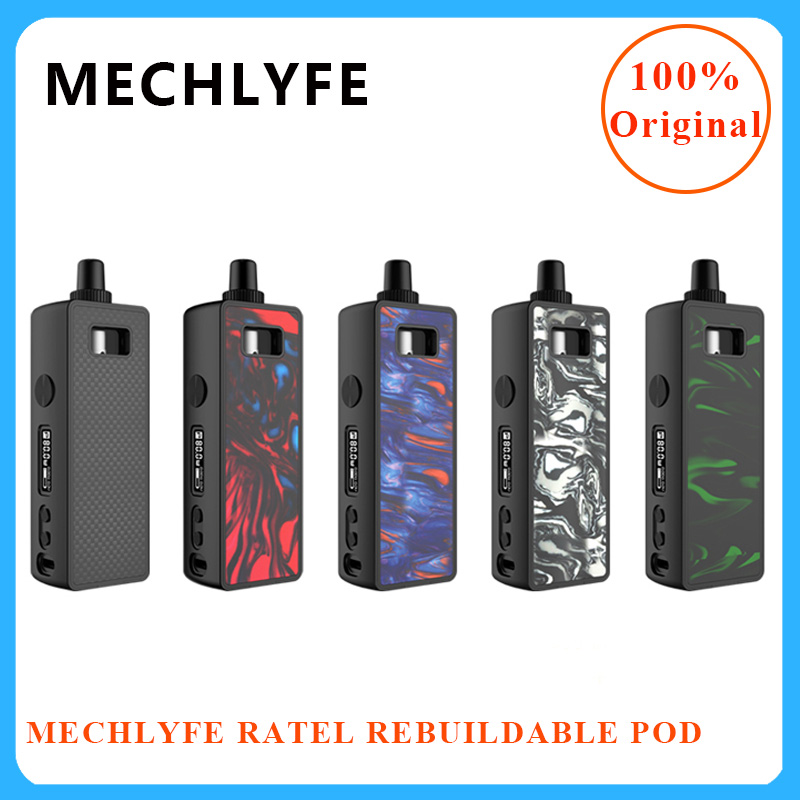 Originele vape pod MECHLYFE Ratel Rebuildable Pod Kit MTL/DTL Luchtstroom & 4ml rebuildable Vaporizer pod vs smoant pasito/orion DNA