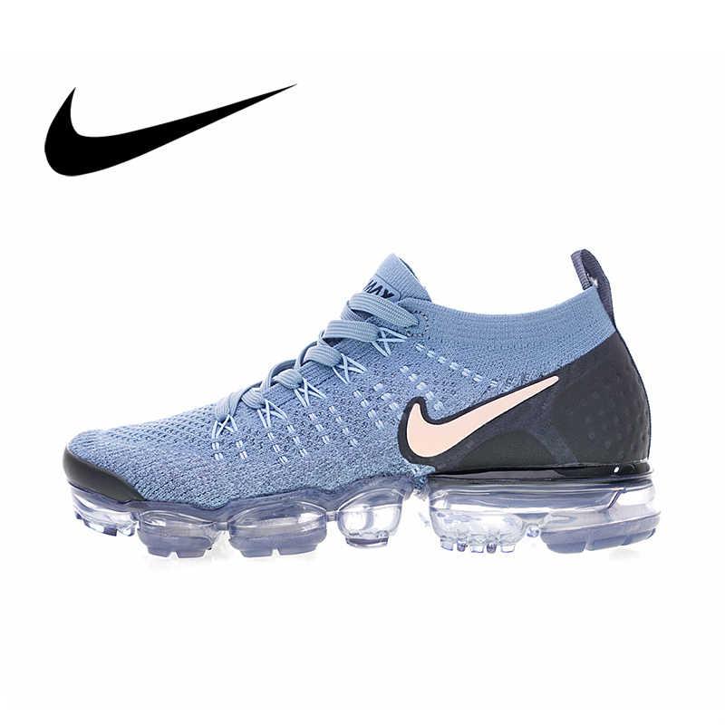 احذية الجري الرسمية احذية نايك اير ماكس Vapormax Flyknit للنساء احذية الجري أحذية رياضية منخفضة للمساعدة في توسيد مريح موضة 942843