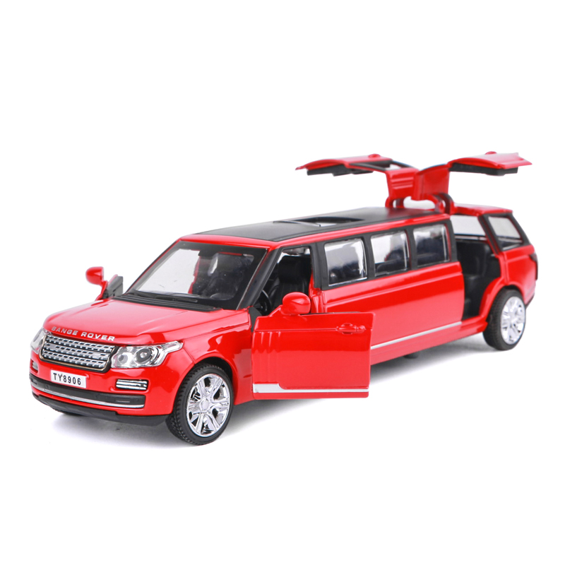 Boutique Gift 1:32 Extended Limousine Alloy Model,advanced Collection Die-casting Sound And Light Pull Back Model,free Shipping