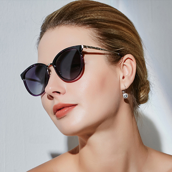 MIZHO 2020 Optical Crystal Frame Design Polarized Sunglasses Ladies Fashion Drive Eyewear Women Brand Travel Fishing