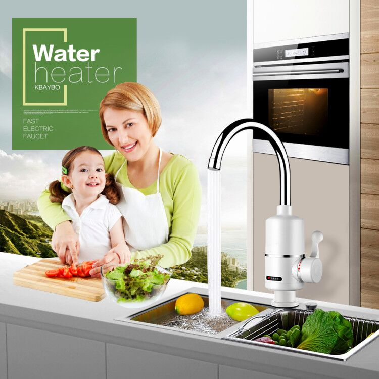 3000W Tankless Faucet Water Heater Instant Electric Water Heater Tap Kitchen Electric Faucet Instant Hot 3 Seconds Heating