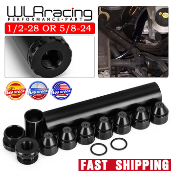 WLR - Aluminum 1/2-28 5/8-24 FOR NAPA 4003 WIX 24003 Car Fuel Filter 1X6 Solvent Trap WLR-AFF01-6 - discount item  20% OFF Auto Replacement Parts