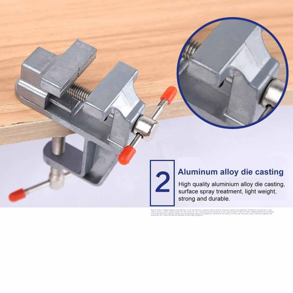 35 مللي متر سبائك الألومنيوم الجدول مقعد المشبك ملزمة منجلة صغيرة الجدول المسمار ملزمة لتقوم بها بنفسك الحرفية أداة إصلاح قالب ثابت