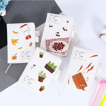 White Love Faux Leather Monthly Daily Planner Agenda Scheduler Journal Diary Cute Beautiful Notebook