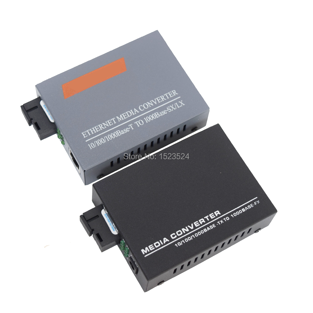 1 Pair Gigabit Fiber Optic Media Converter 1 CH*SC 4 CH*RJ45 Converter 1 CH*SC 1 CH*RJ45 Fiber Optic Transceiver