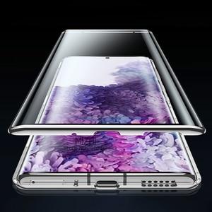 Image 5 - 磁気吸着金属バンパーケース三星銀河 S20 超両面ガラスケース上の 20 プラス S20 + s20ultra カバー