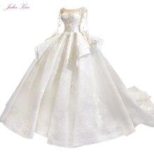 ג וליה Kui בציר נפוח חצאית של כדור שמלת חתונת שמלות עם שרוול ארוך יופי כלה שמלות Robe דה Mariage