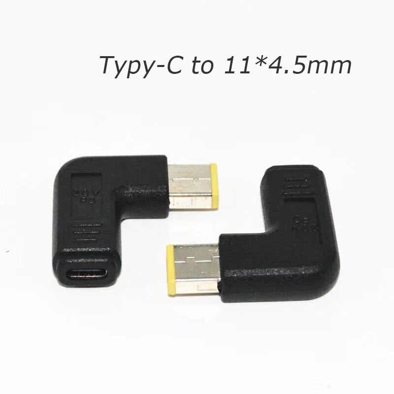 محمول محول الطاقة موصل تيار مستمر التوصيل USB نوع C أنثى إلى العالمي ذكر محول لينوفو Hp Asus ديل دفتر شاحن