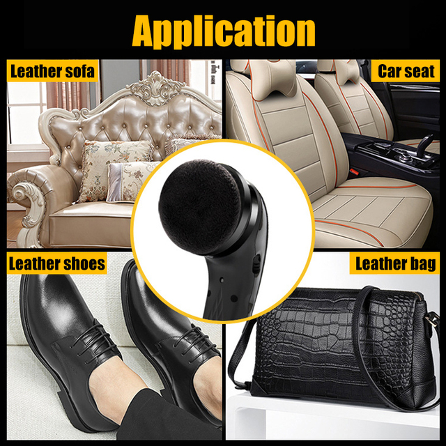 Polisseuse électrique Portable automatique | Machine à polir les chaussures, brosse de nettoyage, outils de soins du cuir