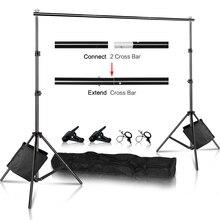 Kit de système de Support de Support de toile de fond de Photo robuste réglable avec étui de transport pour Studio vidéo Photo en mousseline