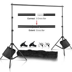 Image 1 - Photo Background Backdrop Stand Support System Kit Heavy Duty Adjustable With Carrying Case For Muslin Photo Video Studio