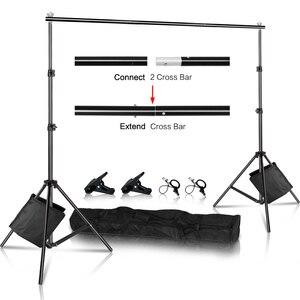Image 1 - Zdjęcie tło tło stojak wsparcie zestaw do organizacji Heavy Duty regulowany futerał do przenoszenia dla muślin studio fotograficzne wideo