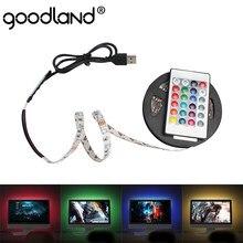 Taśma LED USB podświetlenie tv taśma LED elastyczna dioda SMD3528 DC 5V LED listwa oświetleniowa 50CM 1M 2M 3M 4M 5M RGB Ledstrip na PC