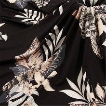 100*165cm milk silk printed fabric womens blouse fashion dress curtain tablecloth hug pillowcase accessories