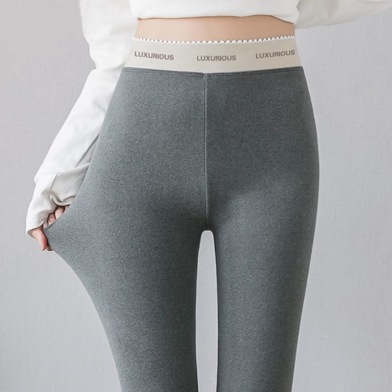 2019 Women Double-sided Thin Velvet Leggings Autumn Winter Slim Elastic Pencil Pants Leggings Plus Size 4XL Sport Pants Female