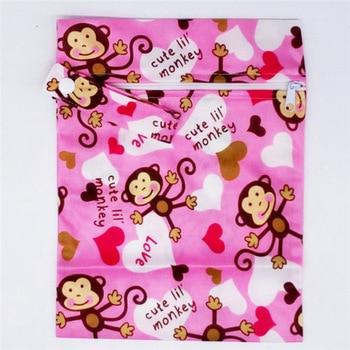20*25cm Mini Diaper Wet Bag Single Pocket Zipper Baby Bags For Mom Maternity Travel Stroller Bag PUL Nappy Diaper Bag Wetbag - A60-2