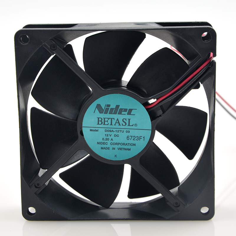 FOR Nidek Nidec D09A-12Tu03 12V 0.20A92 * 92 * <font><b>25</b></font> <font><b>mm</b></font> 9 cm Inverter cooling <font><b>Fan</b></font> image