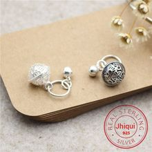 925-Sterling-Silver Accessories Bracelet Charm-Fit Bell Fine-Jewelry DIY Small Findings