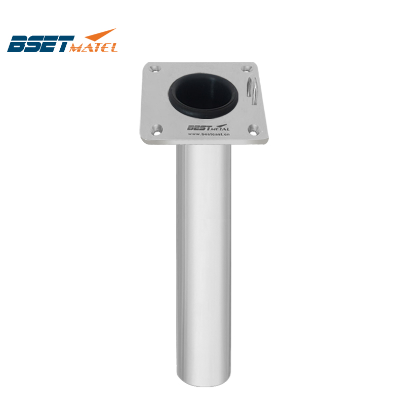 BEST METAL Mirror Polish Flush Mount 316L Boat Fishing Rod Holders With Ring Of Marine Hardware For Boat And Yacht Fishing