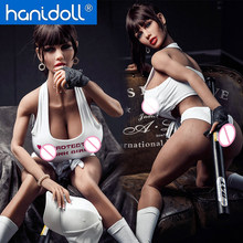 Hanidoll 150cm Silicone Sex Dolls Realistic Vagina Anal Oral Breast Lifelike TPE Love Doll Black doll Toys for Men