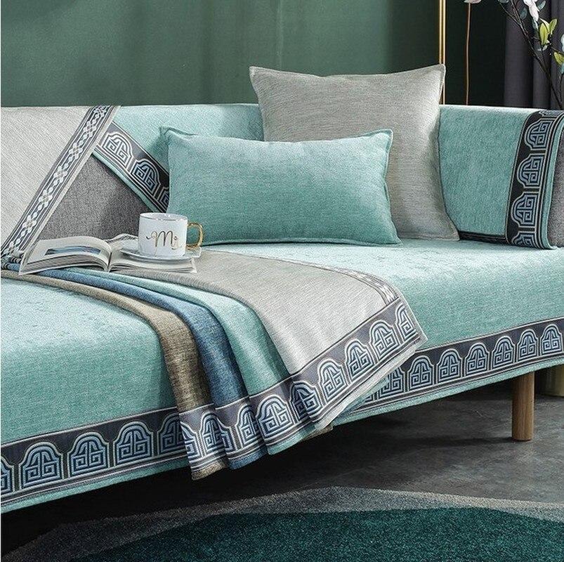 Sofa Towel Cushion Chenille Four Season Universal Slipcover Non-slip Cloth Sofa Covers Seat For Living Room Couch Sofa Cover