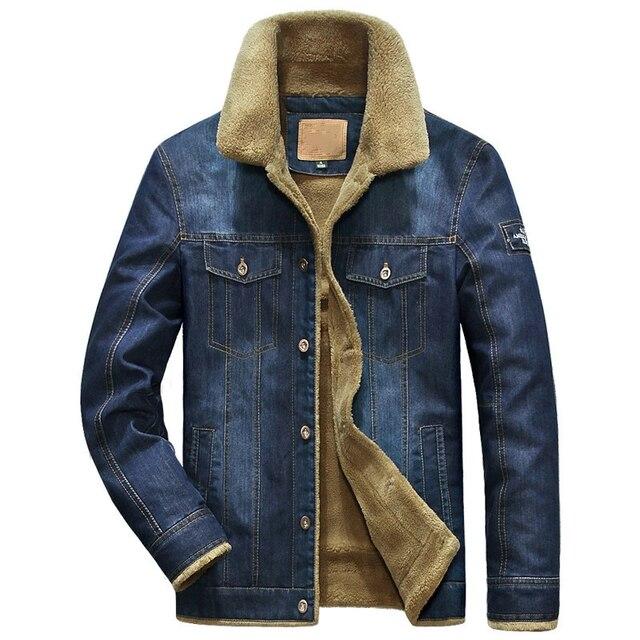 Brand Denim Jacket Men Winter Windbreaker Warm Mens Jackets Outwear Jeans Coat Male Multi-pocket Cowboy Clothing Plus Size M-6XL
