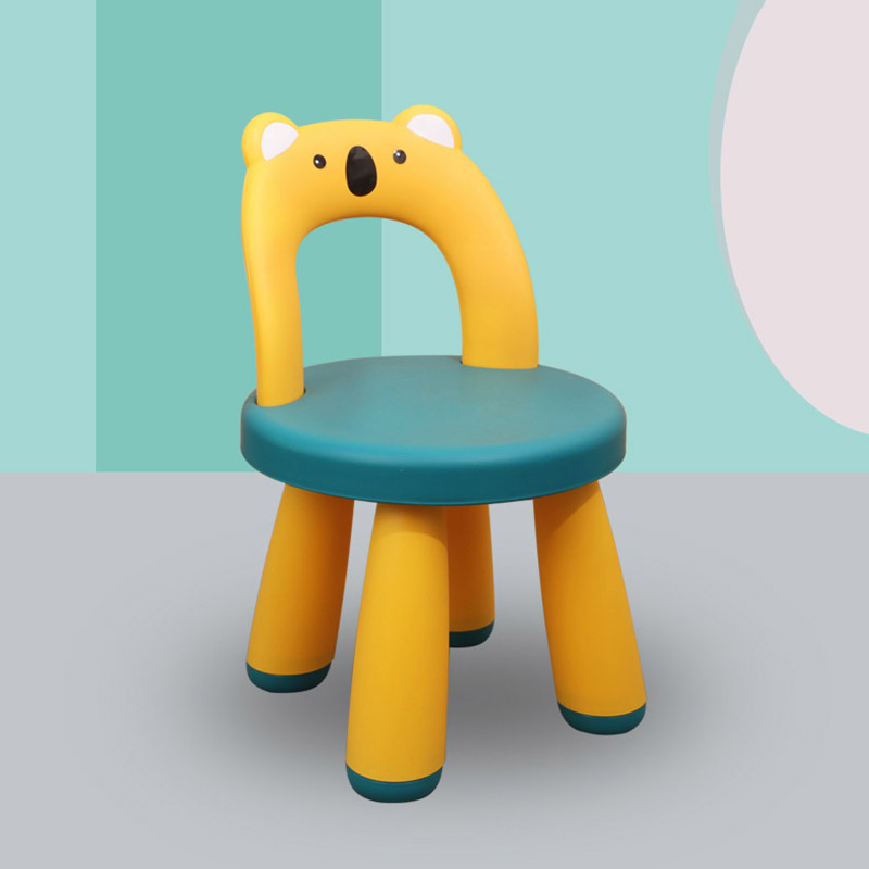 стулья Children Plastic Chair Baby Block Dining Chairs Household Furniture Lovely Thickened Small Stool Non-slip Low Stools Back