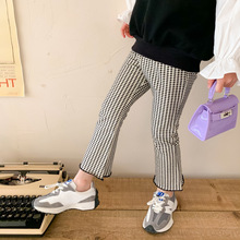 Plaid Pants Baby Clothes Trousers Girl Kids Flare Girls Fashion Korean New-Arrival