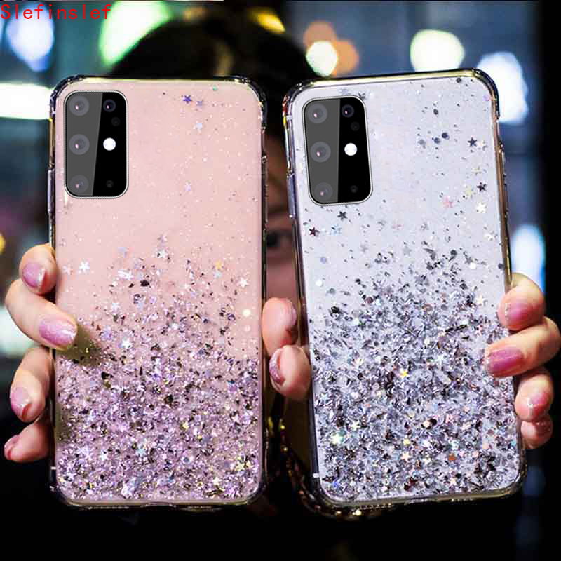 For Samsung A51 A71 A81 S20 Note 20 10 S9 Plus Case Glitter Bling Sequin TPU Silicone Case For Samsung S10 Lite S21 Phone Cover