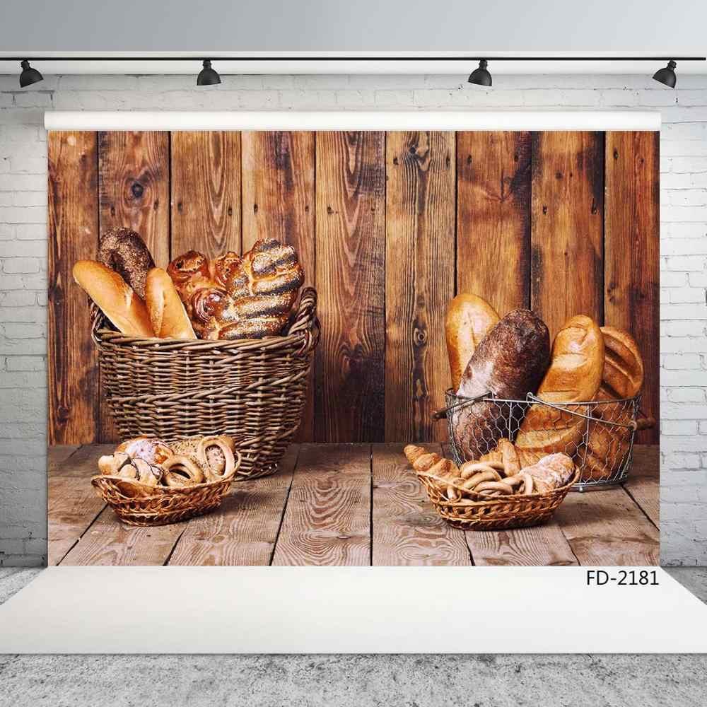 Tablero de madera de pared piso pan decoración de fondo para bebé ducha recién nacido retrato telón de fondo fotografía estudio Accesorios