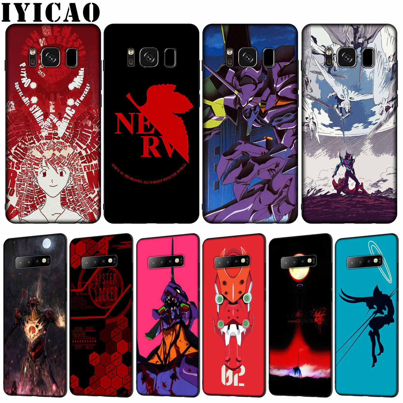 Iyicao Genesis Evangelion Anime Mềm TPU Dẻo Silicone Ốp Lưng Điện Thoại Samsung Galaxy S20 Cực S10 Lite S9 S8 Plus S6 s7 Edge S10e