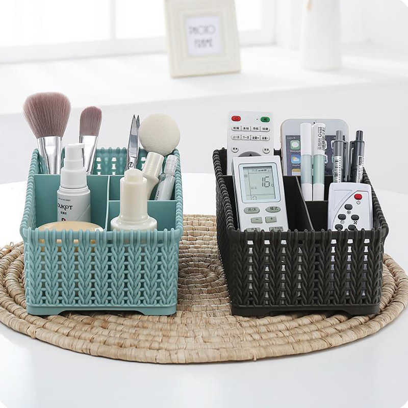 4-Grids Große Kapazität Desktop Kleinigkeiten Lagerung Box Make-Up Organizer Korb Multi-funktion Kosmetik Bilden Pinsel Lagerung fall