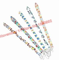 Lot 50pcs mixed cartoon Lanyard ID Badge Holders Mobile Neck Keychains For Party Gifts WQ 204