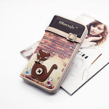 купить PU Leather cute cat Women Long Clutch Wallet Large Capacity Wallets Female Purse Lady Purses Phone Pocket Card Holder Carteras дешево