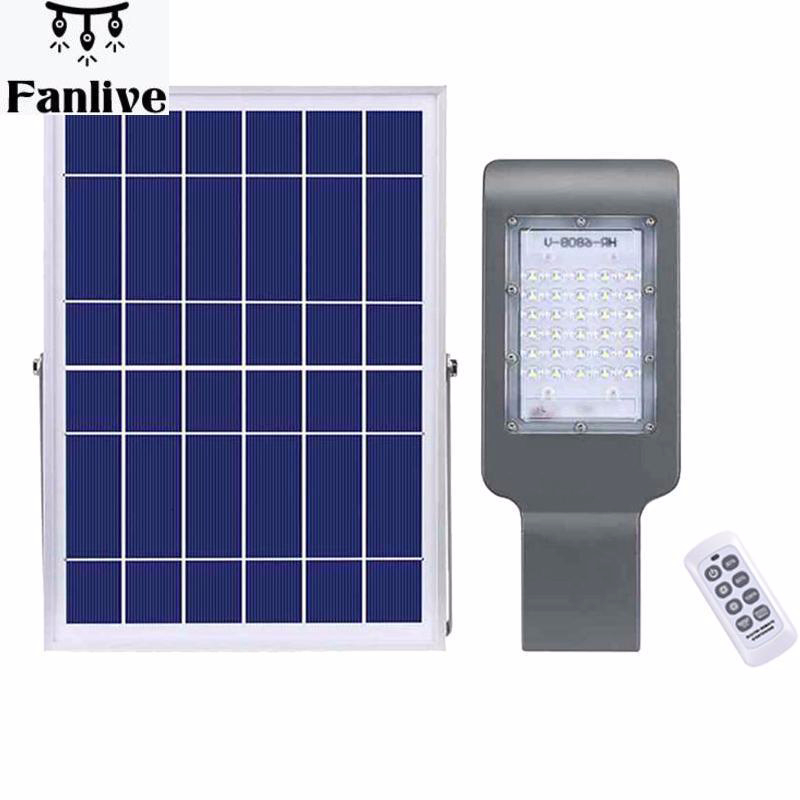 5pc Bright Solar Street Lights Outdoor IP65 Waterproof Solar Powered Security Flood Light Wide Area Lighting Fixture With Remote